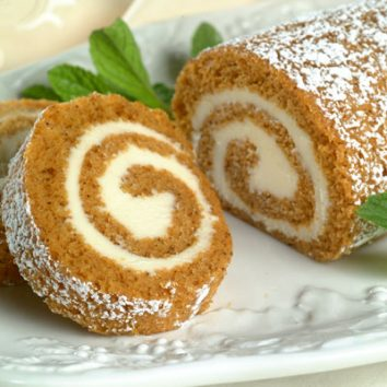 Pumpkin Spice Swiss Roll